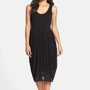 Eileen Fisher Black Silk Stretch Mid-Length Dress